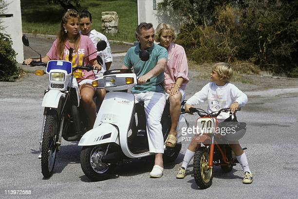 Charles Aznavour with Family In France In July 1986French singer Charles Aznavour with family in July 1986