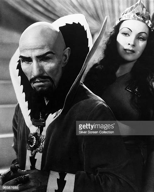 Charles B Middleton as Ming the Merciless and Priscilla Lawson as Princess Aura in the television series 'Flash Gordon' 1936