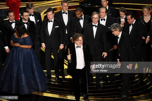 Charles B Wessler and cast and crew of 'Green Book' accept the Best Picture award onstage during the 91st Annual Academy Awards at Dolby Theatre on...