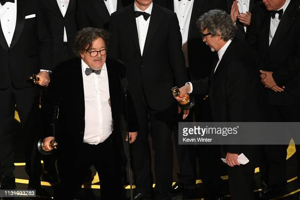 Charles B Wessler and Peter Farrelly accept the Best Picture award for 'Green Book' onstage during the 91st Annual Academy Awards at Dolby Theatre on...