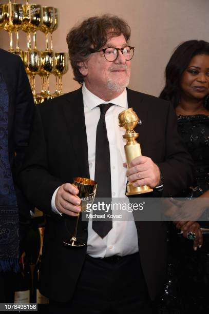 Charles B Wessler poses with award at Moet Chandon at The 76th Annual Golden Globe Awards at The Beverly Hilton Hotel on January 6 2019 in Beverly...