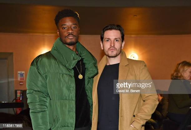Charles Babalola and Christian Faber attend the Motherless Brooklyn BAFTA screening reception at Vue Leicester Square on November 21 2019 in London...