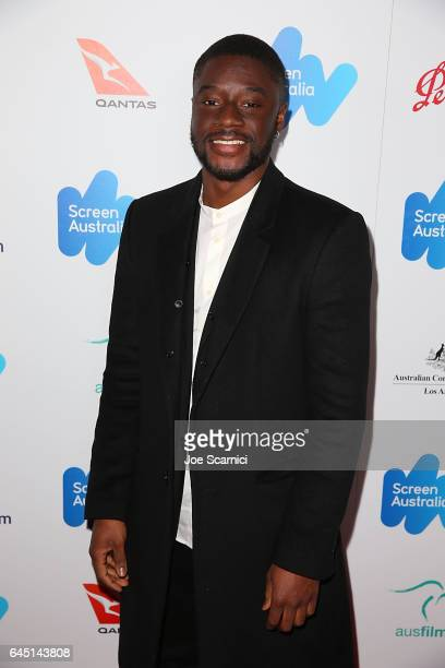 Charles Babalola attends the Screen Australia and Australians In Film reception for Australian Oscar Nominees at Four Seasons Hotel Los Angeles at...