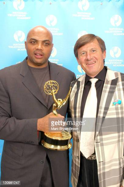 Charles Barkley and Craig Seger during 27th Annual Sports Emmy Awards Press Room at Frederick P Rose Hall at Lincoln Center in New York City New York...