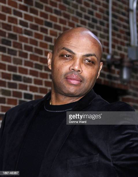Charles Barkley arrives for the 'Late Show with David Letterman' at Ed Sullivan Theater on October 28 2013 in New York City