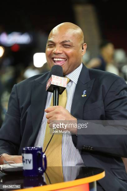 Charles Barkley during a post game interview on NBA TV after the game between the Golden State Warriors and Cleveland Cavaliers in Game Four of the...
