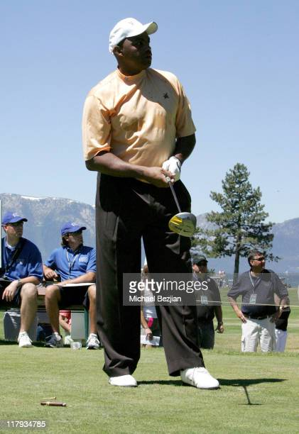 Charles Barkley during American Century Celebrity Golf Championship July 16 2006 at Edgewood Tahoe Golf Course in Lake Tahoe California United States