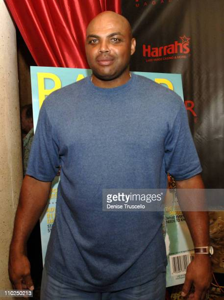 Charles Barkley during Razor Magazine Hosts Party for the American Century Championship Players at Altitude Nightclub at Harrahs Hotel and Casino in...