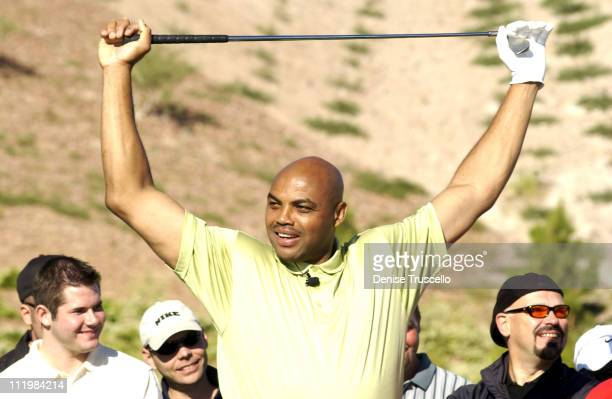 Charles Barkley during Tiger Jam V Celebrity Skins Golf Match at Rio Secco Golf Club in Henderson Nevada United States