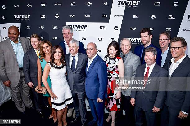 Charles Barkley of Turner Sports' Inside the NBA on TNT Chairman and CEO of Turner John Martin Robin Meade of HLN's Morning Express President of...