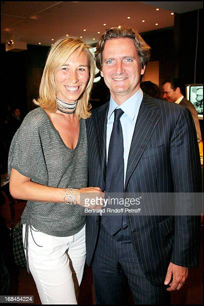 Charles Beigbeder and his daughter Carine at Art Toy Benefit Auction At Christie's For Association Paris Tout P'Tits