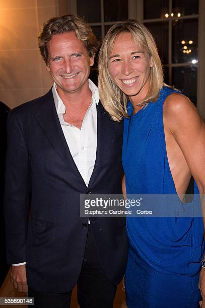 Charles Beigbeder and his wife Carine attend Lui Magazine Launch Party held at Foch Avenue in Paris