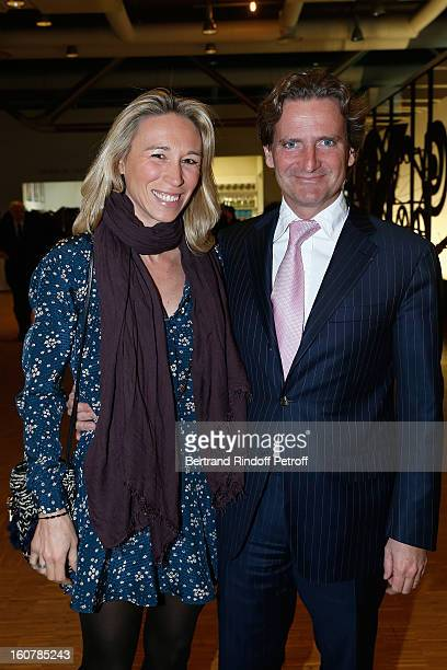 Charles Beigbeder and his wife Carine attend the 8th Annual Dinner of the 'Societe Des Amis Du Musee D'Art Moderne' at Centre Pompidou on February 5...