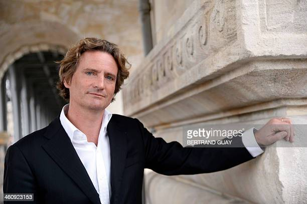 Charles Beigbeder candidate of Paris Libere a rightwing dissident list for the municipal elections poses on January 6 2014 in Paris AFP PHOTO /...