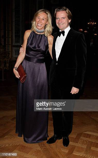 Charles Beigbeder President from Poweo and his wife Carine Beigbeder President from Pack and Fly attends the 18th Nuit de l'Enfance 2010 Gala in...