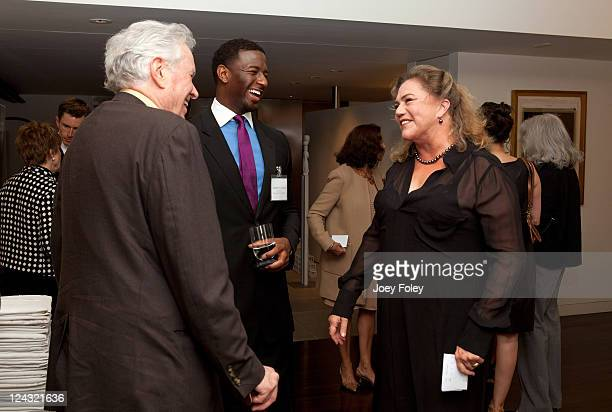 Charles Benton Director of Youth Leadership Programs for People For The American Way Andrew Gillum and Actress Kathleen Turner attend the 30th...