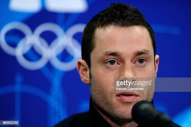 Charles Berkeley of United States attends the United States Olympic Committee Bobsleigh Men Press Conference at the Main Press Centre ahead of the...