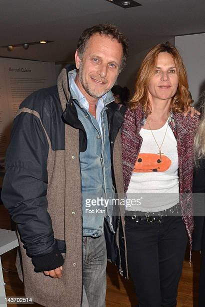 FRANCE MAY Charles Berling and his wife Virginie CouperieÊattend the 'WAA/HH' Food Flavouring Spray By Philippe Starck and Patrick Edwards Launch...