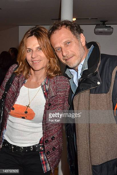 Charles Berling and his wife Virginie CouperieÊattend the 'WAA/HH' Food Flavouring Spray By Philippe Starck and Patrick Edwards Launch Cocktail at Le...
