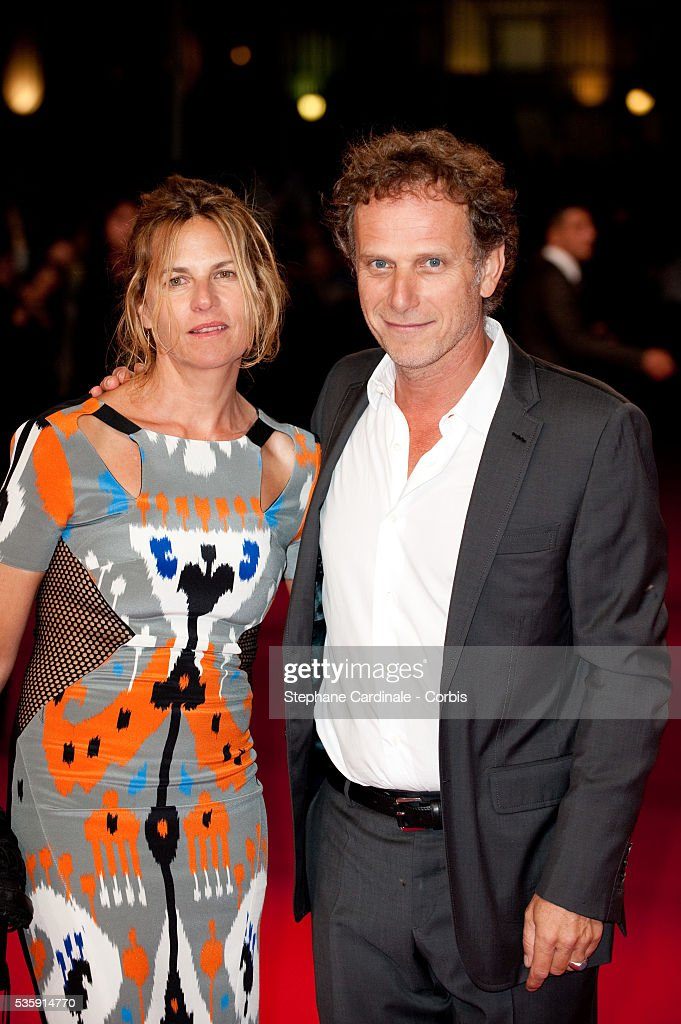 Charles Berling and Virginie Couperie attend 'The Debt' Premiere at the 36th American Film Festival in Deauville.