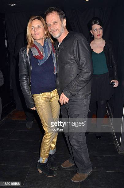 PARIS FRANCE DECEMBER Charles Berling and Virginie Couperie Eiffel attend the Louis Bertignac Private Concert Party Hosted by 'Parnasse' Orange VIP...