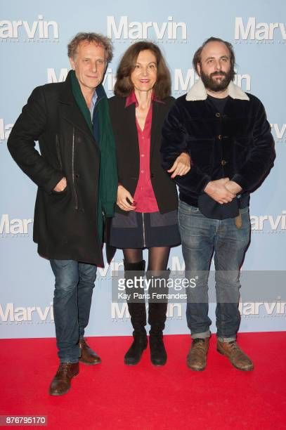 Charles Berling Anne Fontaine and Vincent Macaigne attend the 'Marvin Ou La Belle Education' Paris Premiere at Le Louxor cinema on November 20 2017...