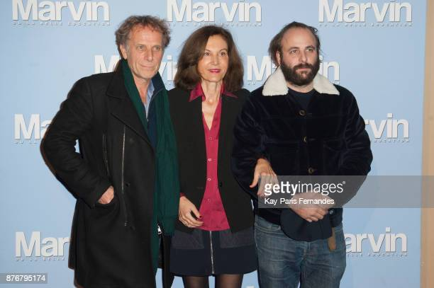 Charles Berling Anne Fontaine and Vincent Macaigne attend the 'Marvin Ou La Belle Education' Paris Premiere at Le Louxor cinema on November 20 2017...