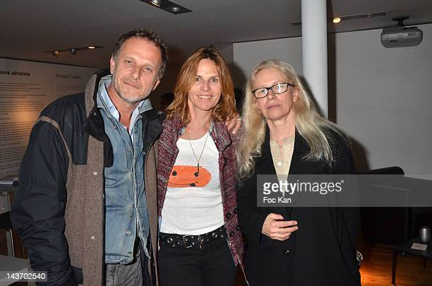 Charles Berling his wife Virginie CouperieÊand Dominique Issermann attend the 'WAA/HH' Food Flavouring Spray By Philippe Starck and Patrick Edwards...