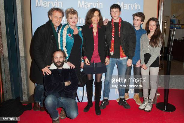 Charles Berling Vincent Macaigne Catherine Salee Anne Fontaine Finnegan Oldfield Jules Porier and Luna Lou attend the 'Marvin Ou La Belle Education'...