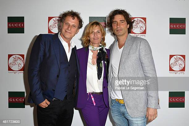 Charles Berling Virginie CouperieEiffel and Sculptor Richard Orlinski attend the Paris Eiffel Jumping presented by Gucci at ChampdeMars on July 5...