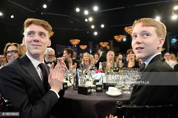 Charles Bernard Foster and Kit Bernard Foster attend the 2016 AMD British Academy Britannia Awards presented by Jaguar Land Rover and American...
