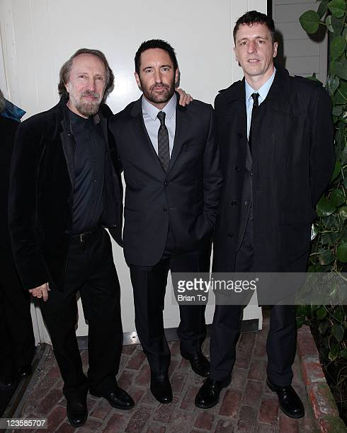Charles Bernstein 'The Social Network' composers Trent Reznor and Atticus Ross attend SCL presents annual preOscar champagne reception honoring 2011...