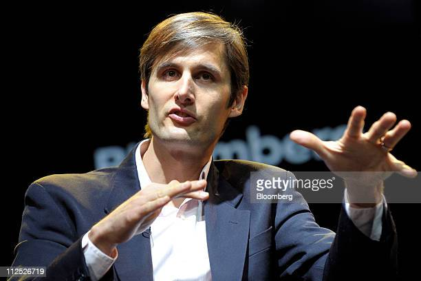 Charles Best founder and chief executive officer of DonorsChooseorg speaks at Bloomberg Link Empowered Entrepreneur Summit in New York US on Thursday...