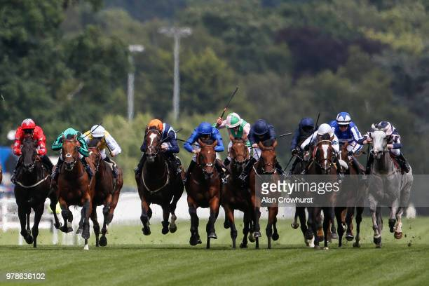 Charles Bishop riding Accidental Agent wins the Queen Anne Stakes on day 1 of Royal Ascot at Ascot Racecourse on June 19 2018 in Ascot England