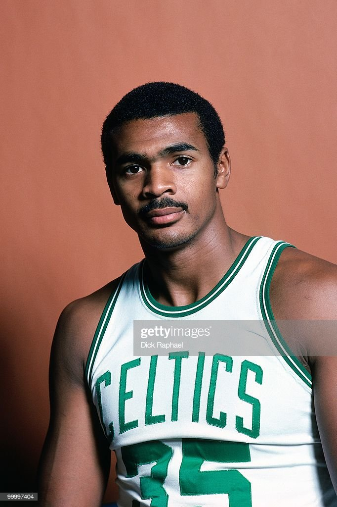 Charles Bradley #35 of the Boston Celtics poses for a portrait in 1983 at the Boston Garden in Boston, Massachusetts.