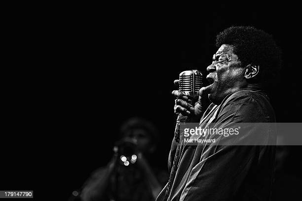 Charles Bradley performs on stage during the Bumbershoot music festival at Seattle Center on August 31 2013 in Seattle Washington