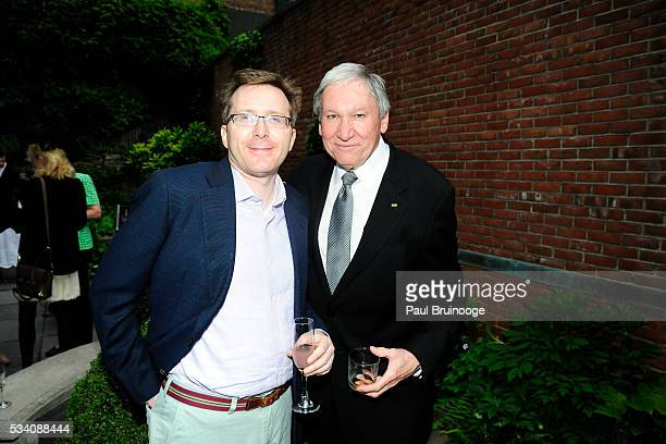 Charles Breiterman and John diMascio attend Historic Royal Palaces Patrons Secret Garden Party at Merchant's House Museum on May 24 2016 in New York...