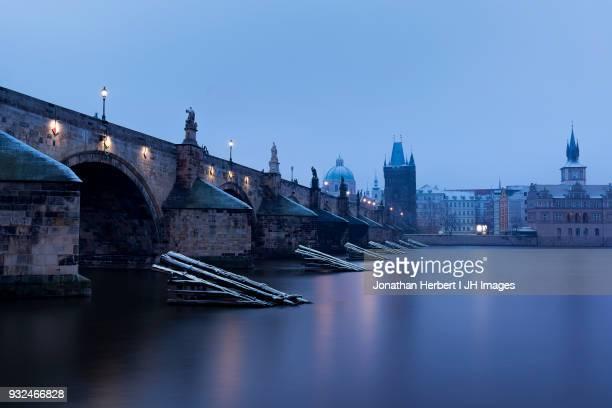 Charles Bridge In The Snow - Prague