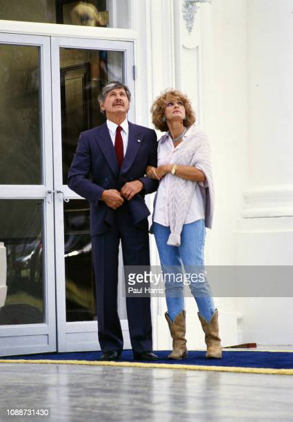 Charles Bronson and Jill Ireland act in the movie Assassination the last movie she made until she later succumbed to Cancer July 15 1988 Los Angeles...