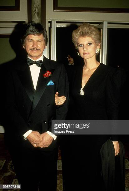 Charles Bronson and Jill Ireland circa 1983 in New York City.