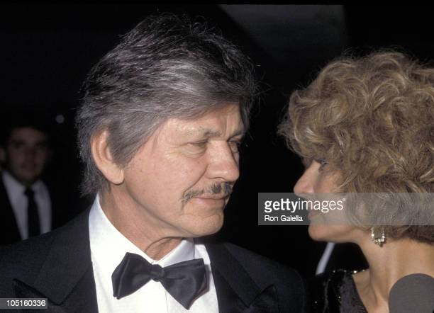 Charles Bronson and Jill Ireland during Screening Party for The Naked Cage at Canon Film Headquarters in Hollywood California United States