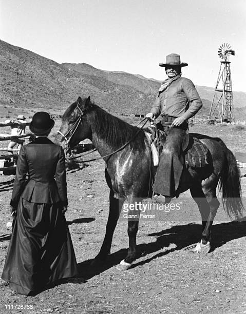 Charles Bronson and Jill Ireland during the filming of the movie 'Wild Horses' directors John Sturges and Duilio Coletti First December 1972 Almeria...