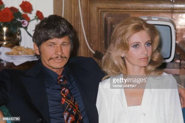 Charles Bronson et Jill Ireland en 1973 France