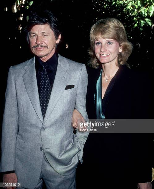 Charles Bronson & Jill Ireland during 1st Annual Talent Awards Luncheon at Beverly Hills Hotel in Beverly Hills, California, United States.