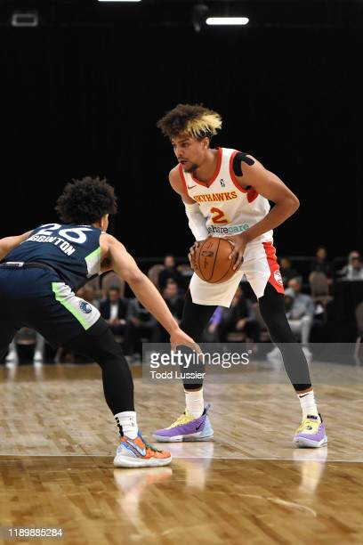 Charles Brown Jr #2 of the College Park Skyhawks handles the ball against the Iowa Wolves on December 21 2019 at the Mandalay Bay Events Center in...