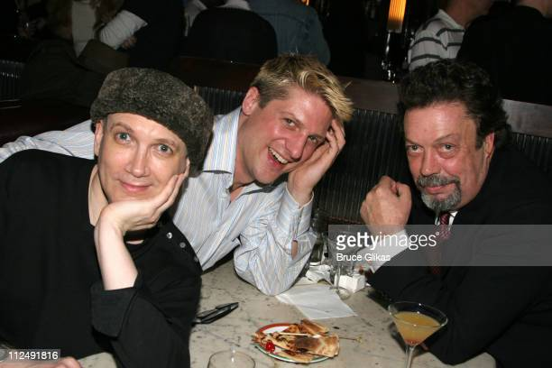 Charles Busch with Christopher Sieber and Tim Curry of 'Spamalot'