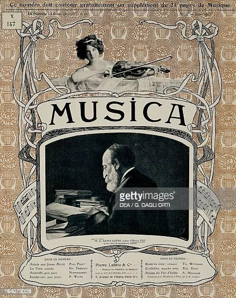 Charles Camille SaintSaens cover of Music magazine June 1903 Paris Bibliothèque Des Arts Decoratifs