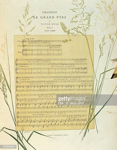 Charles Camille SaintSaëns Chanson de Grand Pere lyrics by Victor Hugo