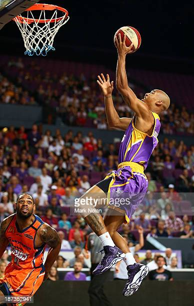 Charles Carmouche of the Kings drives to the basket during the round five NBL match between the Sydney Kings and the Cairns Taipans at Sydney...