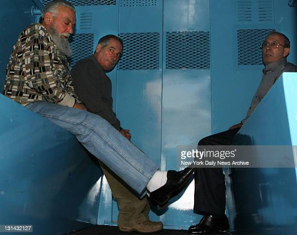 Charles Carneglia Joseph Corozzo and Domenico Cefalu in the back of a paddy wagon Some 60 Gambino crime family members were arrested on federal...